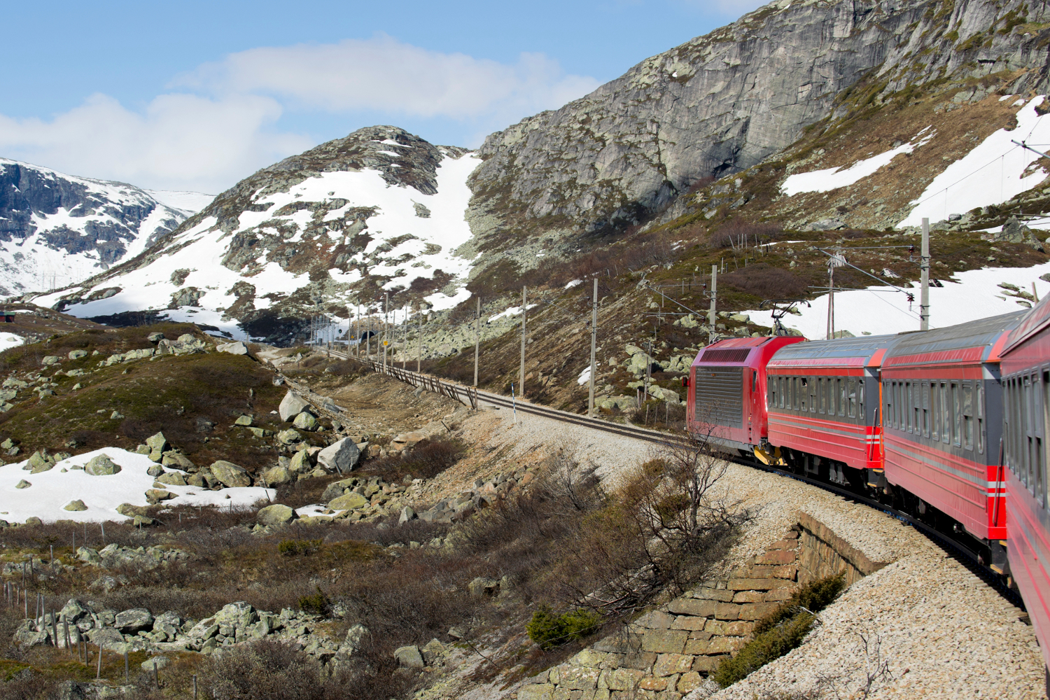 Train from Oslo to Bergen in Norway
