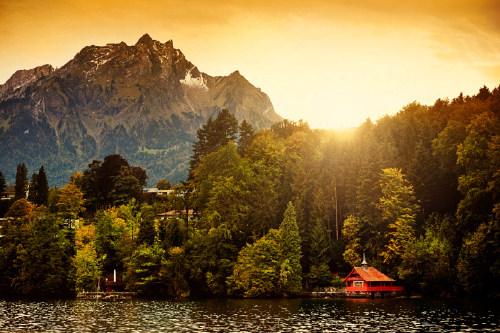 Switzerland Alps Sunrise, Lucerne