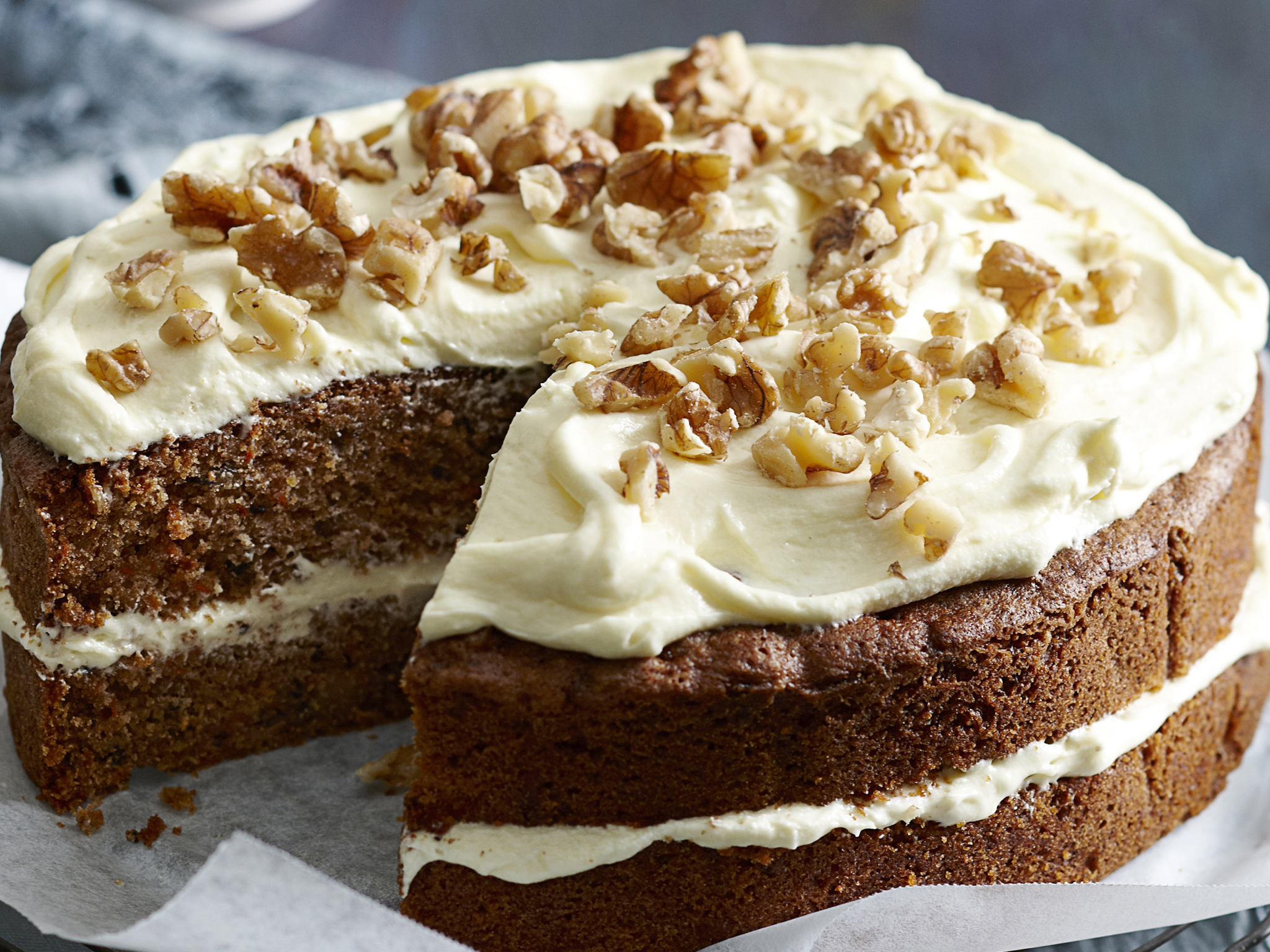Our favourite family cakes - Carrot cake with cream cheese frosting
