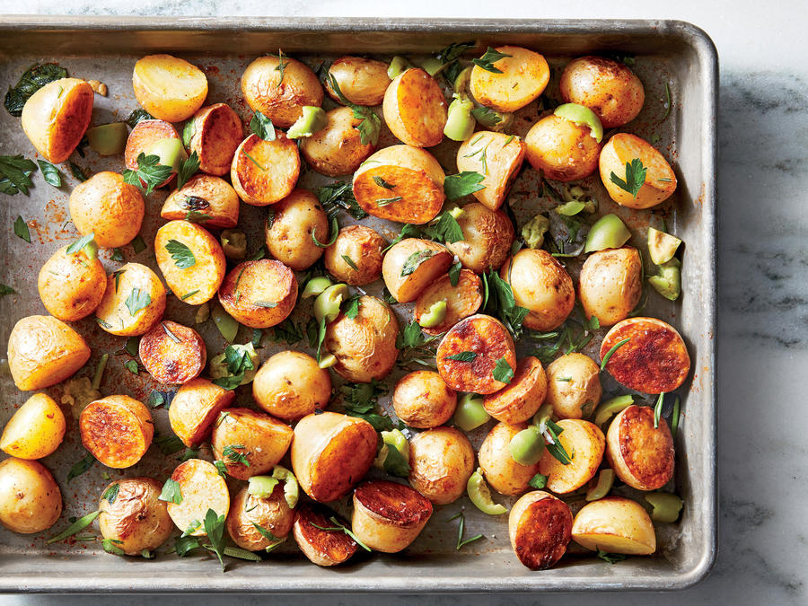 Cooking Light Jan/Feb 2017        Dinner Tonight Sides                      Spanish-Style Roasted Potatoes