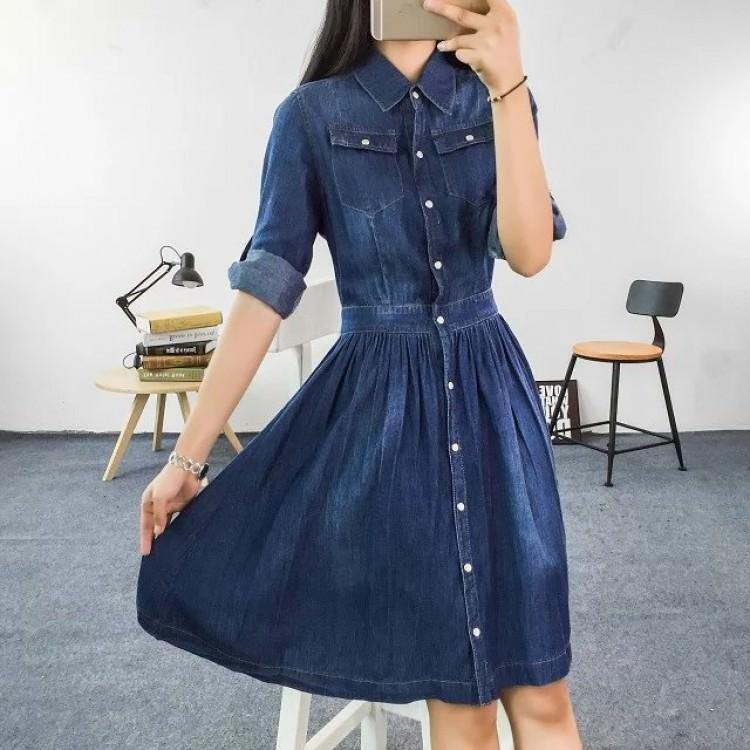Αυτά τα Denim φορέματα θα φορεθούν πολύ το 2019 00dca391f28