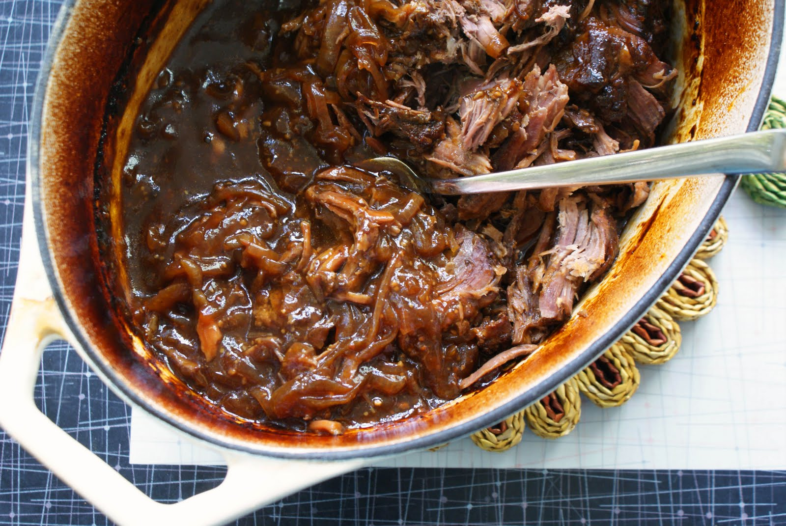 Braised beef pulled