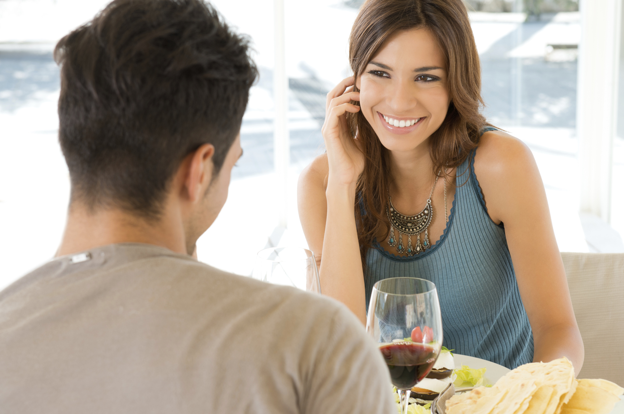 Young Couple At Restaurant