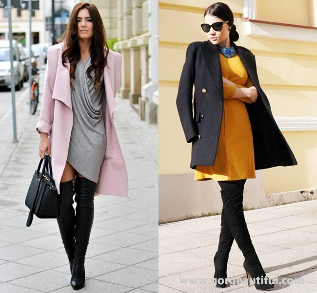fall-winter-office-attire-with-thigh-high-boots