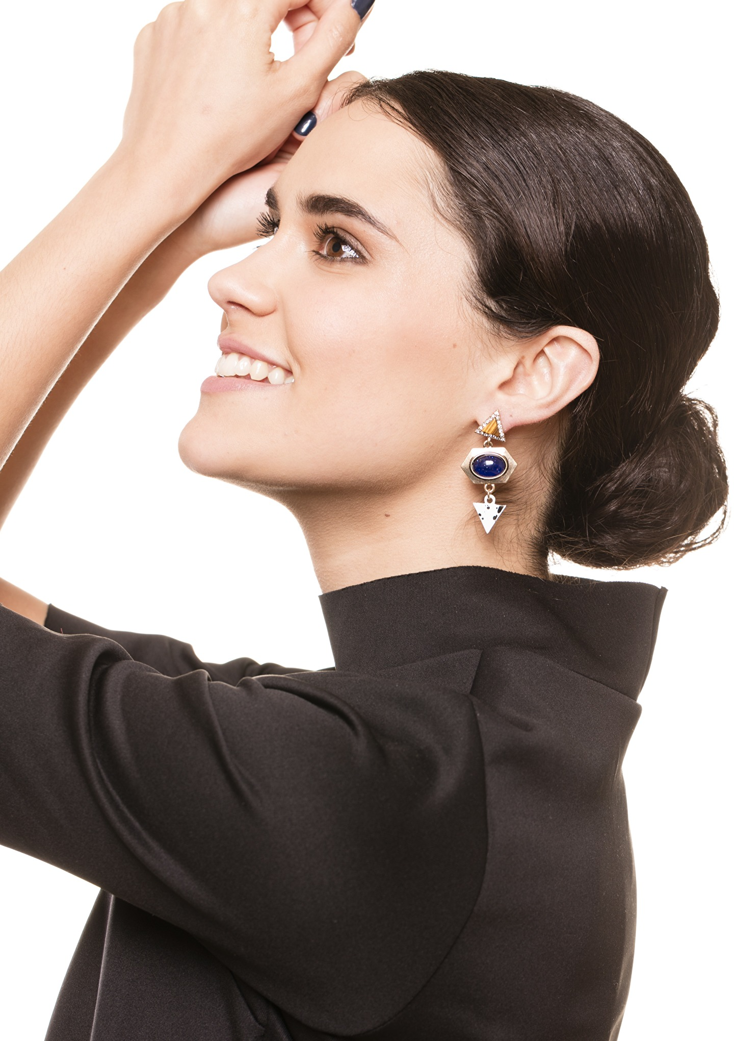 futuristic-statement-earrings-in-blue-and-gold