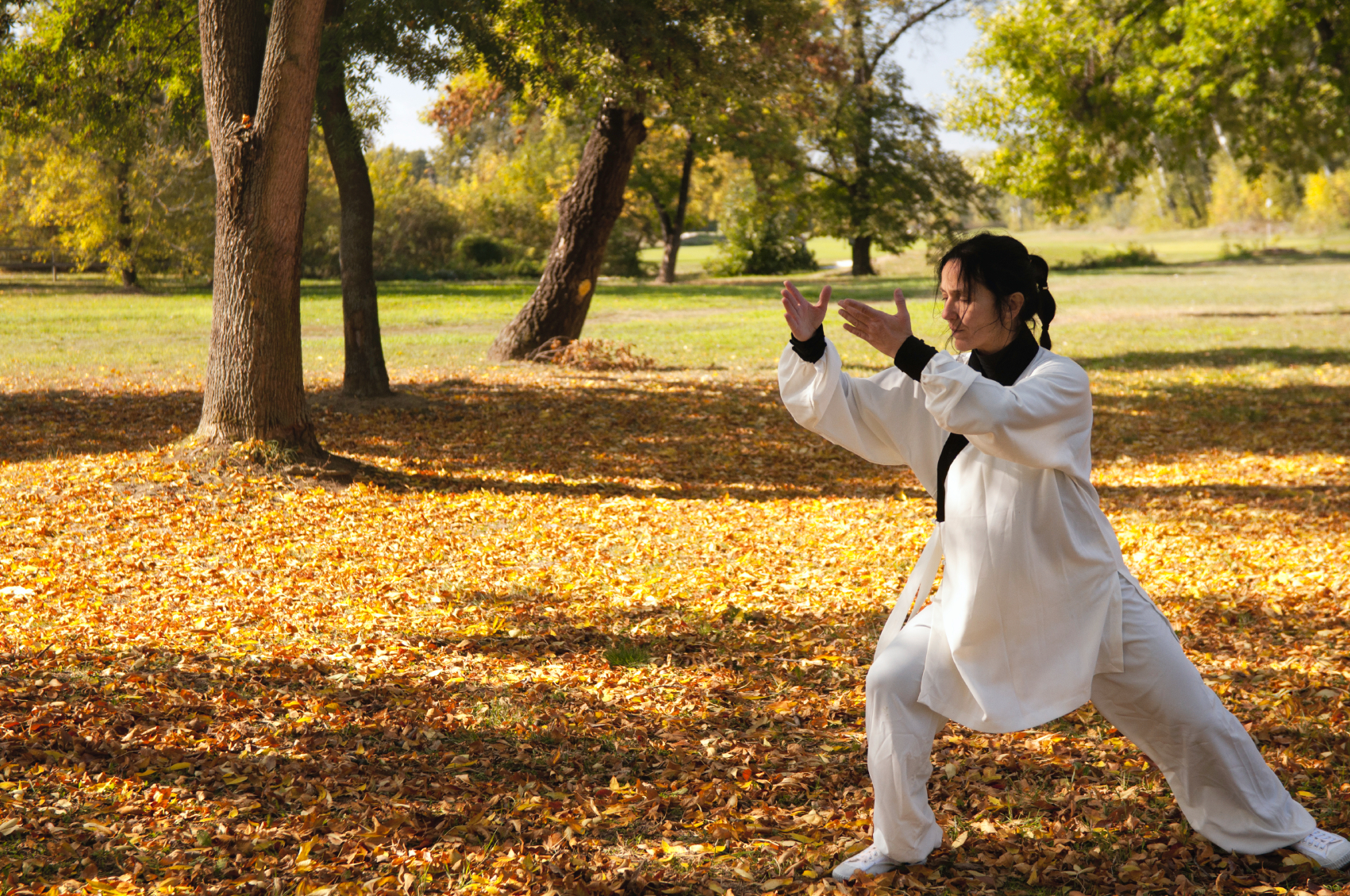 woman practicing ki gong