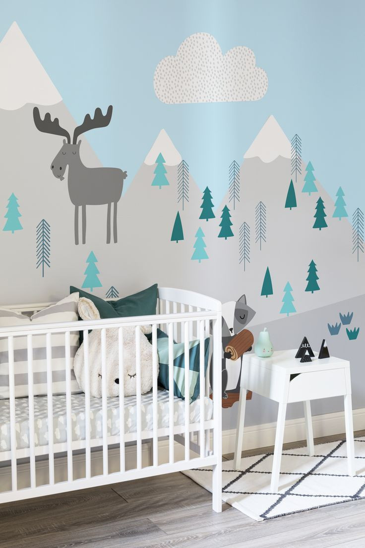 nursery wall murals wallpaper Magnificent 936 best images about Nature Baby themed rooms on